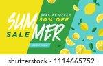 summer sale vector illustration ... | Shutterstock .eps vector #1114665752