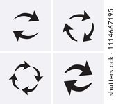 processing circular icons set.... | Shutterstock .eps vector #1114667195