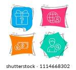 set of dollar money ... | Shutterstock .eps vector #1114668302