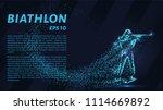 biathlon of the particles.... | Shutterstock .eps vector #1114669892