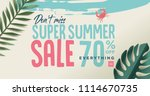 summer sale vector illustration ... | Shutterstock .eps vector #1114670735