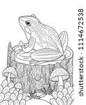 vector doodle coloring book... | Shutterstock .eps vector #1114672538