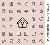 birdhouse icon. detailed set of ... | Shutterstock .eps vector #1114673135