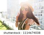 outdoor close up portrait of... | Shutterstock . vector #1114674038