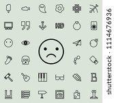 emotionally upset outline icon. ...   Shutterstock .eps vector #1114676936