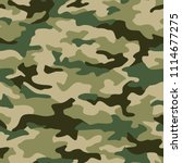 texture military camouflage... | Shutterstock .eps vector #1114677275