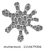 blot composition created of... | Shutterstock .eps vector #1114679306
