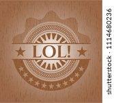 lol  wood emblem. vintage. | Shutterstock .eps vector #1114680236