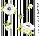 seamless striped style floral... | Shutterstock .eps vector #1114682138