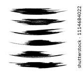 vector set of grunge brush... | Shutterstock .eps vector #1114684022