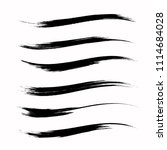 vector set of grunge brush... | Shutterstock .eps vector #1114684028