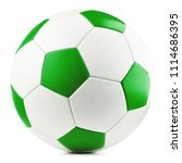 Leather Soccer Ball Isolated O...