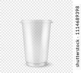 vector realistic 3d empty clear ... | Shutterstock .eps vector #1114689398