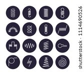 metal spring flat line icons....   Shutterstock .eps vector #1114690526