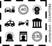 simple 9 icon set of law... | Shutterstock .eps vector #1114695086