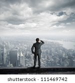businessman looking to the... | Shutterstock . vector #111469742
