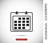 calendar icon    vector eps 10... | Shutterstock .eps vector #1114698992