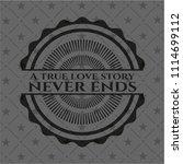 a true love story never ends... | Shutterstock .eps vector #1114699112