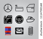 simple 9 icon set of... | Shutterstock .eps vector #1114700168