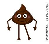 happy poop emoji | Shutterstock .eps vector #1114704788