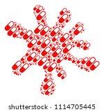 blot area built from medication ... | Shutterstock .eps vector #1114705445