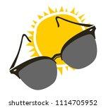 sunglasses and sun illustration | Shutterstock .eps vector #1114705952