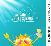 hello summer rock n roll vector ... | Shutterstock .eps vector #1114707245