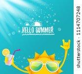 hello summer rock n roll vector ... | Shutterstock .eps vector #1114707248