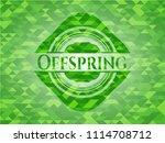 offspring green emblem. mosaic...   Shutterstock .eps vector #1114708712