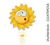 vector funky cartoon summer sun ...   Shutterstock .eps vector #1114709216