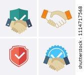 trust icons. vector set   Shutterstock .eps vector #1114717568