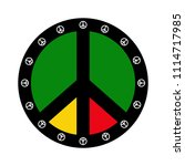 isolated colored peace symbol | Shutterstock .eps vector #1114717985
