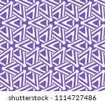 seamless pattern with symmetric ... | Shutterstock .eps vector #1114727486