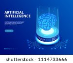 isometric artificial... | Shutterstock .eps vector #1114733666