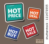 eps10 vector  cute hot price... | Shutterstock .eps vector #111473555