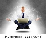 yoga businessman in total... | Shutterstock . vector #111473945