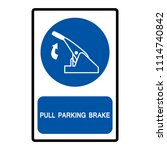 pull parking brake symbol sign  ... | Shutterstock .eps vector #1114740842