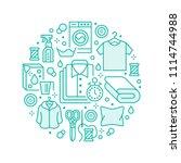 dry cleaning  banner... | Shutterstock .eps vector #1114744988