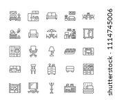 furniture vector flat line...   Shutterstock .eps vector #1114745006