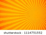 bright orange and yellow rays... | Shutterstock .eps vector #1114751552