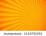 bright orange and yellow rays... | Shutterstock .eps vector #1114751552