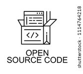 open source code icon. element... | Shutterstock .eps vector #1114764218