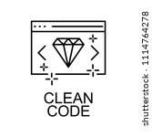 clean web code icon. element of ... | Shutterstock .eps vector #1114764278
