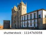 porto cathedral facade view ... | Shutterstock . vector #1114765058