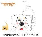 connect the dots and draw cute... | Shutterstock .eps vector #1114776845