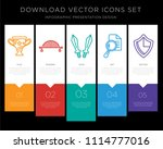 5 vector icons such as vase ... | Shutterstock .eps vector #1114777016