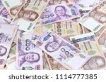 thailand currency  background. | Shutterstock . vector #1114777385