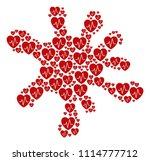 spot collage created of... | Shutterstock .eps vector #1114777712