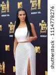 kim kardashian at the 2018 mtv... | Shutterstock . vector #1114778276