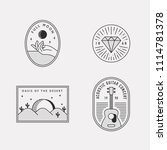 black and white hipster logo... | Shutterstock .eps vector #1114781378